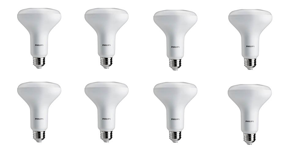 Philips LED Dimmable BR30 Light Bulb: 650-Lumen, 2700-Kelvin, 9-Watt (65-Watt Equivalent), E26 Base, Soft White, 8-Pack by Philips LED (Image #1)
