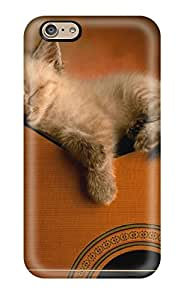Hot Design Premium HldCMAv933npSVN Tpu Case Cover Iphone 6 Protection Case(funny Cat Sleeping On Guitar )