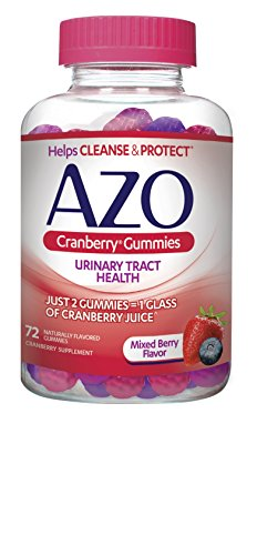 Bacteria Urinary Tract - AZO Cranberry Urinary Tract Health Gummies Dietary Supplement | 2 Gummies = 1 Glass of Cranberry Juice | Helps Cleanse & Protect* | Natural Mixed Berry Flavor | 72 Gummies