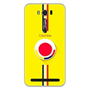ColorKing Asus Zenfone 2 Laser ZE550KL Football Yellow Case shell cover - Fifa Colombia 01