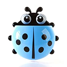 Ladybug-Shaped Toothbrush Holder 1 Pc for Home and Bathroom (Blue)