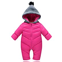 Unisex Baby Windproof Down Jacket Winter Warm One Piece Romper Outfit