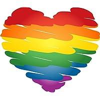 SkyBug Kleur Hart Gay Pride Orientatie Liefde Bumper Sticker Vinyl Art Decal voor Auto Truck Van Window Bike Laptop