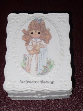 Precious Moments ** Confirmation Blessing Covered Box with Prayer Cards ** (Precious Moments Covered Box)