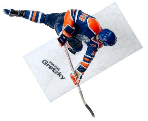NHL Legends Series 2 Figure Wayne Gretzky with Blue Edmonton Oilers Jersey
