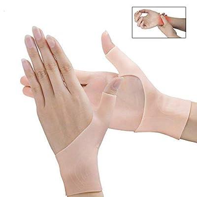 Povihome Wrist Brace Carpal Tunnel, Gel Wrist Brace, Wrist Pain & Arthritis Thumb Brace, Gel Compression Gloves for Carpal Tunnel, Hand Tendonitis, Arthritis, Typing, Rheumatism - 1 Pair