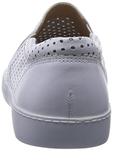 Clarks Glove Puppet, Mocasines para Mujer Blanco (White Leather)