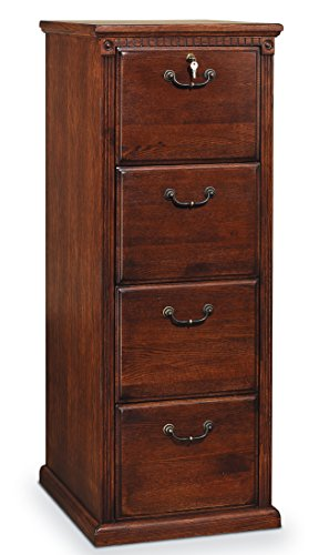 Martin Furniture Huntington Oxford 4-Drawer File Cabinet, Burnish Finish, Fully Assembled (File Drawer Used Cabinet 4)