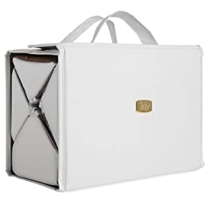 Joy Mangano Deluxe Xl Bbc Beauty Case, White