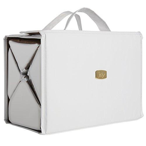 Joy Mangano Deluxe Xl Bbc Beauty Case, White