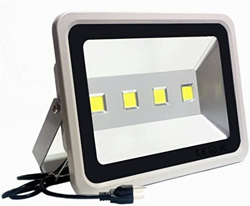 Outdoor LED Flood Light 200W-Jiuding Super Bright 3500K Warm White Equivalent to 1000 watt Halogen Bulb to Replace Garage and Paddock Lighting 50,000 Hours of Life