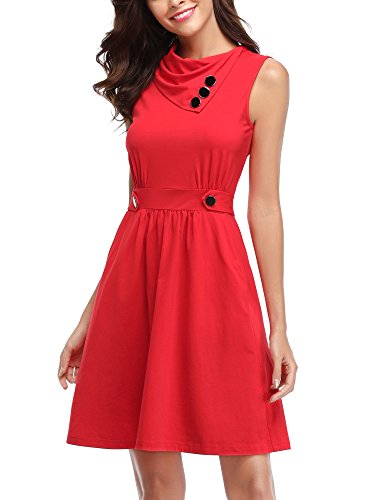 f045b378c HUHOT Short Dresses For Juniors, Womens Sleeveless Dress With Pocket Casual  Spring.