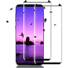 Galaxy S9 Screen Protector, 3D Full Screen Coverage Glass [Curved] [Bubble-Free] [9H Hardness] [Anti-Scratch] Galaxy S9 Tempered Glass Screen Protectors for Samsung Galaxy S9 Black [2 Pack]