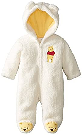 Amazon.com: Disney Baby Unisex-Baby Pooh Hooded Pram: Clothing