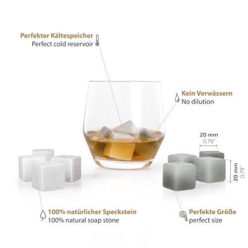 Blumtal Whisky,Steine aus Speckstein, geruchs, und geschmacksneutral, 12er  Set Kühlsteine in grau und weiß Amazon.de Küche \u0026 Haushalt