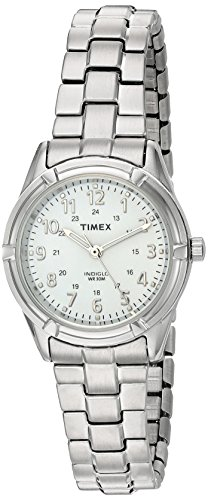 Timex Women's TW2P88900 Easton Avenue Silver-Tone Stainless Steel Expansion Band Watch (Ladies Casual Expansion Band Watch)