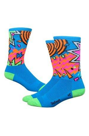 DEFEET AIRTSHAZ401 Aireator Shazam Socks, X-Large, Process - Socks Defeet Blue