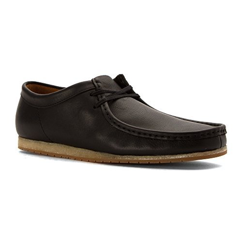 CLARKS Men's Wallabee Step Black Leather Oxford 7.5 D ()