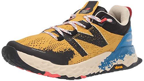 New Balance Men's Hierro V5 Fresh Foam Trail Running Shoe, Varsity Gold/NEO Classic Blue, 11 D US