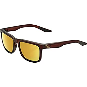 Image of 100% Unisex-Adult Speedlab (61029-103-69) Blake-Soft Tact Rootbeer-Flash Gold Lens, Free Size) Sunglasses