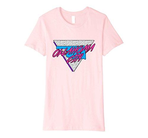 80s Halloween Costumes Party City (Womens Oklahoma Neon 80s Retro Oklahoma City T-Shirt Medium Pink)