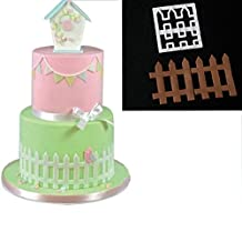 WYD Plastic Fence Kid Molds for Fondant Soap Making Mold Cake Mold Decorating