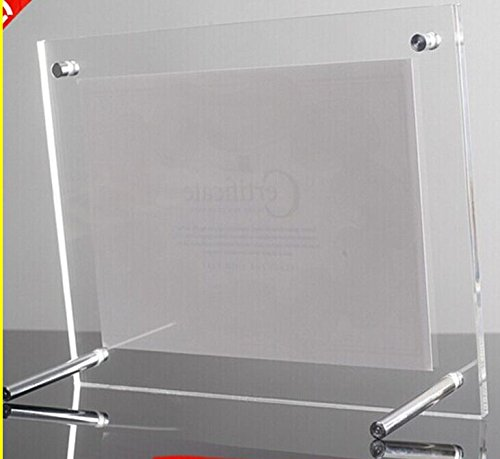 L Frames Free Standing Screw Acrylic Certificate Holders