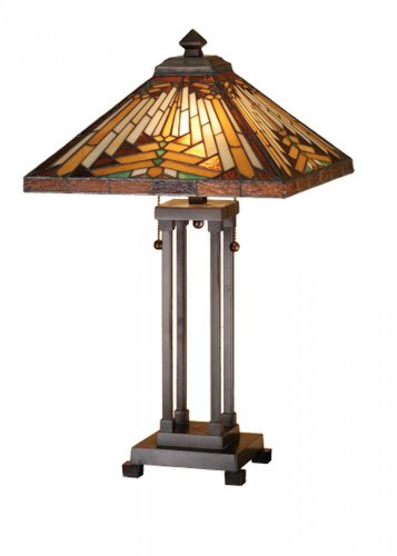 Meyda Tiffany 66230 Nuevo Mission Table Lamp, 9.5
