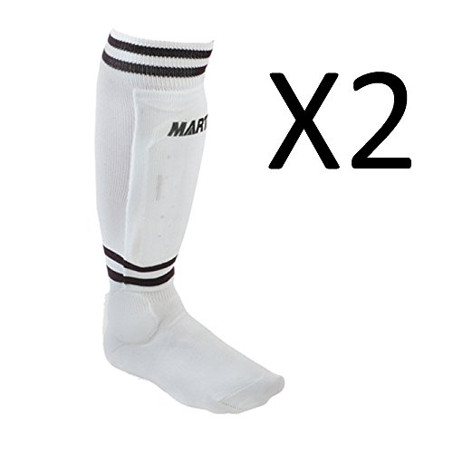 Martin Youth Soccer Shinguards Sock Shin Guard White Large S