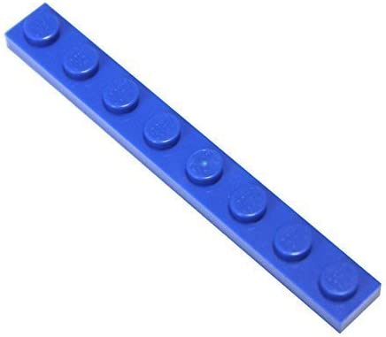LEGO Parts and Pieces: Blue (Bright Blue) 1x8 Plate x25