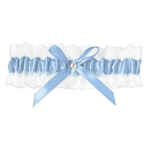 Amscan 395666 Garter Blue one Size 1ct Lace with Ribbon /& Gem