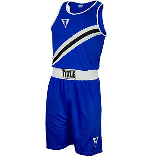 Title Boxing Aerovent Elite Amateur Boxing Set 6, Blue/White, Youth Medium