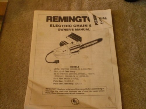 Remington Electric Chain Saw Owner's Manual