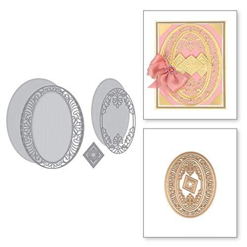 Uqiangy Cutting Dies Scrapbooking Metal Die Stencil Paper Card Craft for Sizzix Big Shot/Other Machines(B,113x145mm)
