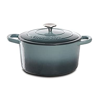 Crock-Pot Artisan Cast Iron Dutch Oven, 5 quart, Slate Gray