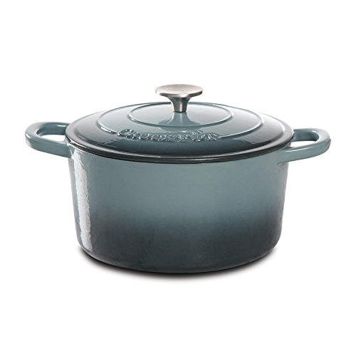 Crock-Pot Artisan Cast Iron Dutch Oven, 5 quart, Slate Gray (Le Creates Small Dutch Oven compare prices)