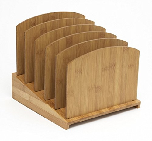 (Lipper International 818 Bamboo Wood Graduated File Holder, 9 1/4
