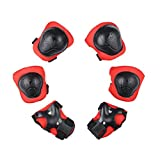 HOBULL 6Pcs Skating Protective Pads Set for Skateboarding Cycling Inline Skating Roller Blading Protective Gear Knee Knee Pads Elbow Pads Wrist Guards for Kids