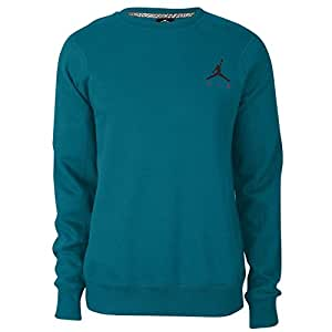 Nike Men's Jordan Air Jumpman Crew Sweatshirt XX-Large Tropical Teal Fusion Pink
