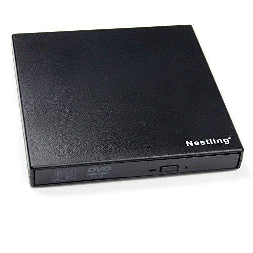 Nestling® USB2.0 External Player Externe USB + DVD Combo CD-R / RW-CD-ROM / XA DVD-ROM-Brenner-Laufwerk und Netzkabel , Unterstützt CD nicht benötigen Brennen von CD-ROM-Laufwerk für Notebooks, Desktop, Netbook, Laptop
