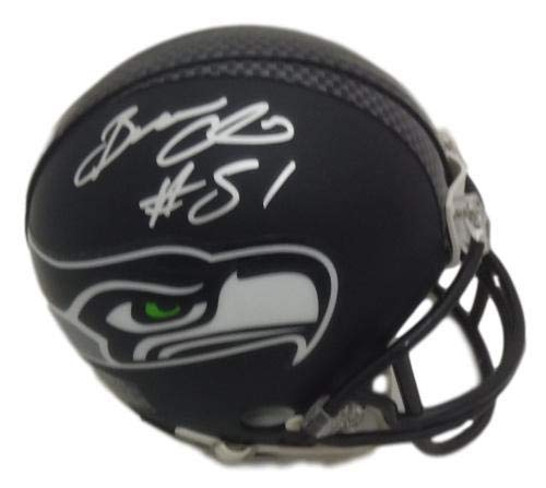 c5543d390 Amazon.com: Bruce Irvin Autographed/Signed Seattle Seahawks Mini Helmet  JSA: Sports Collectibles