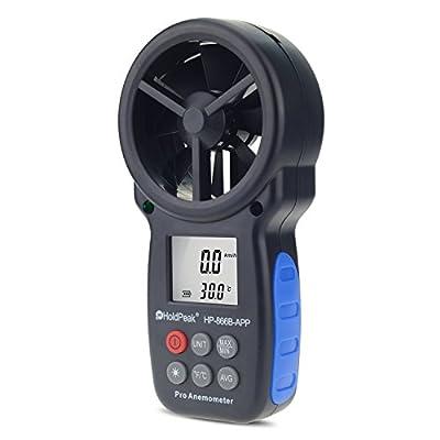 MeterTo Digital Anemometer HP-866B-APP Display APP Readings Temperature -10??45? Wind Speed 0.3?30m/s