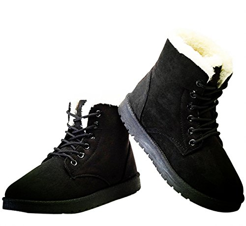 NOT100 Woman Boots(Size 10 Is OK) (Warm Fur) (Tassel) Black-suede xSD4ZQr5