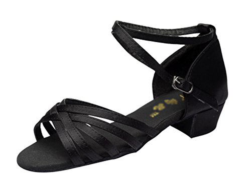 Black Ballroom Dance and Children's Dance Women's soled Adult's Shoes Sandals Soft Latin Durable Lihaer Shoes n4qf6z6Y