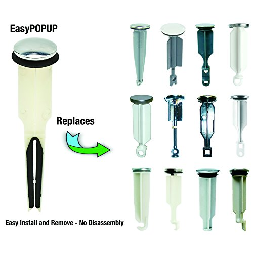 PF WaterWorks EasyPOPUP Universal Pop-Up Stopper (Cap Diameter 1.5 inch); Brushed Nickel; PF0251 by PF WaterWorks (Image #4)