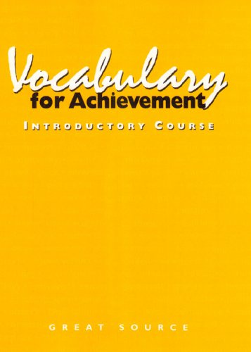 Vocabulary for Achievement, Introductory Course