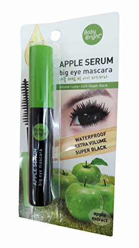 2 packs of Baby Bright Apple Serum Big Eye Mascara. Waterproof Extra Volume Super black. (8 g/ - Eyeglasses Nyc Designer