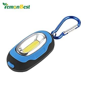 LemonBest COB - Linterna LED de 3 modos con llavero, color ...