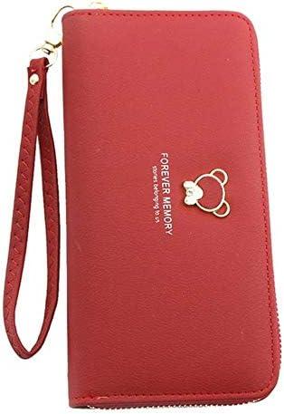 Frauen-Kupplungs-Geldbeutel-Reißverschluss-Tasche Damen Tasche große Brieftasche Brieftasche Frauen Brieftasche Männer und Frauen Brieftasche,rot,19.5cm * 9.5cm * 2.5cm