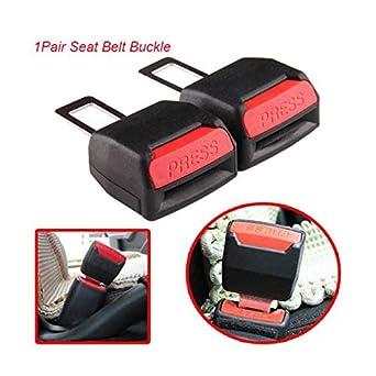 1 Pair Universal Auto Car Safety Seat Belt Buckle Extension Extender Clip Black